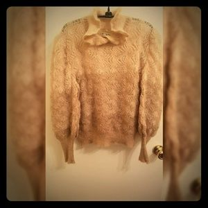 Vintage Italian Angora Knitted Ombre Sweater